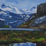 Nr.45 Himmel, Berge und Wasser 70x100 cm