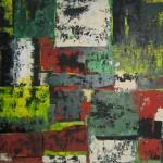 Formen und Farben (2) 100x70 cm mit Rahmen